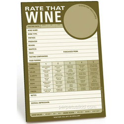 Rate That Wine Notepad