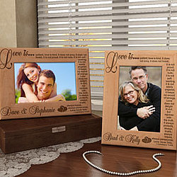 Personalized Love Never Fails Wooden Picture Frame