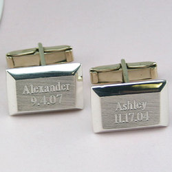 I Carry You With Me Sterling Silver Personalized Cuff Links