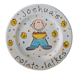 Personalized Boy Hanukkah Plate