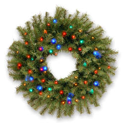 Pre-Lit Northwood Fir Wreath