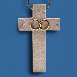 Polished Wedding Jerusalem Stone Cross