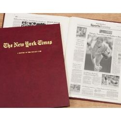 Personalized New York Times Cubs Fan Team History Book