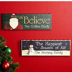 Personalized Country Christmas Canvases