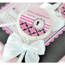 Personalized Wedding Shower Lollipop Favors