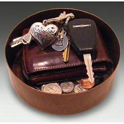 Hammered Copper Coin Key Caddy