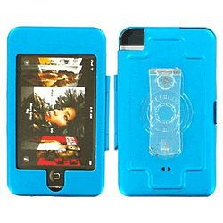 iPod Touch Metal Armor Case in Teal Blue
