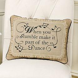 Plush Stumble Pillow with Music Print