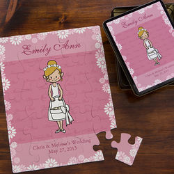 Personalized Flower Girl 25-Piece Puzzle