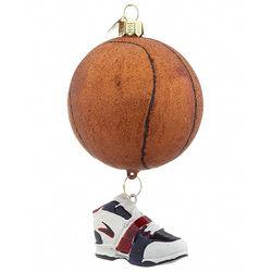 Glitter Basketball Christmas Ornament