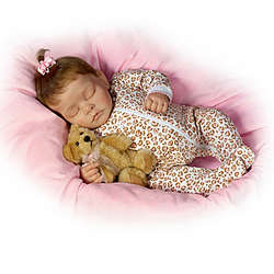 Sweet Dreams Ellie Lifelike Doll with Plush Teddy-Bear