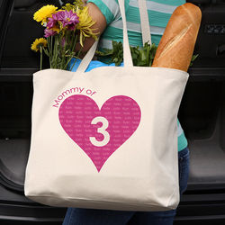 Personalized Canvas Tote Bag for Mom