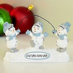 Personalized Snow Buddies Sisters Forever Figurine