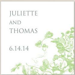 Antique Blossoms Square Labels