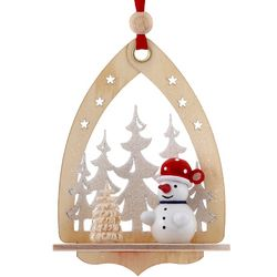 Personalized Winter Wonderland Snowman Christmas Ornament