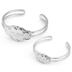 Personalized Mommy and Child Sterling Silver Bracelets