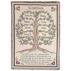 Our Family Tree Tapestry Afghan