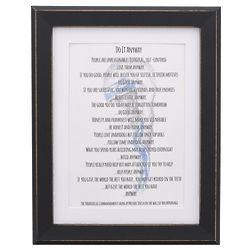 Saint Teresa of Calcutta Do It Anyway Prayer Framed Print
