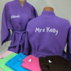 Knee Length Monogrammed Bath Robe