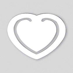 Heart Shaped Silverplated Engraved BookMark