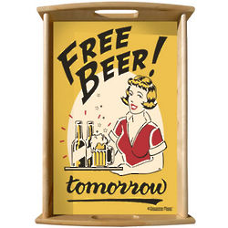 Free Beer Serving Tray