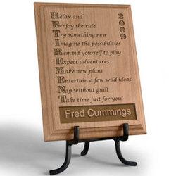 Personalized Retirement Wooden Plaque