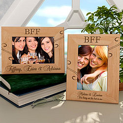 Personalized BFF Wooden Picture Frame