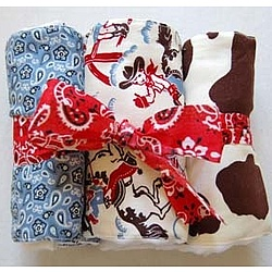 Cowboy Burp Cloth Set