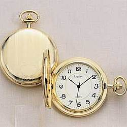 23K Gold Electroplate Pocketwatch