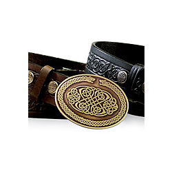 Men's Celtic Brass Oval Buckle