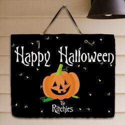 Happy Halloween Welcome Slate Plaque
