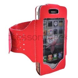 Luxmo Apple iPhone Red 4 Velcro Closure Armband