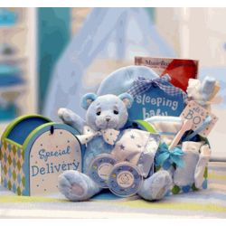 Blue Special Delivery New Baby Gift Set