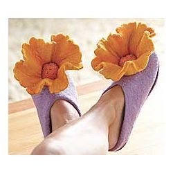 Felt Poppy Slippers in Large