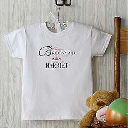 Personalized Junior Bridesmaid Kid's T-Shirt