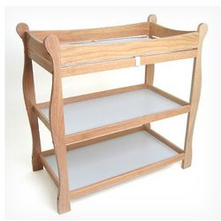 Sleigh Style Wood Changing Table