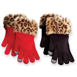 Faux Fur Smart Screen Gloves