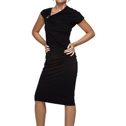 Roberto Cavalli Black Gold Snake Dress