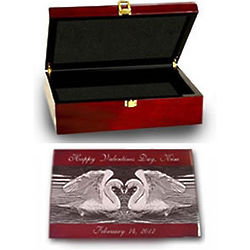 Love Rosewood Jewelry Box with Silver Accents