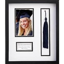 Personalized Graduation Tassel Frame with White Mat