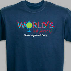 Personalized World's Best Father T-Shirt