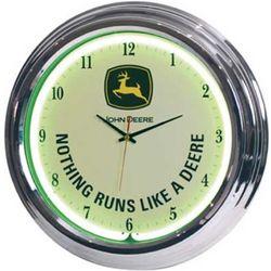 """John Deere 14.5"""" Neon Clock"""