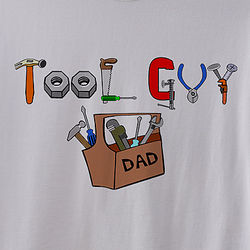Dad's Personalized Tool Guy Handyman T-Shirt