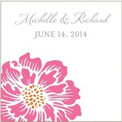 Roses Wedding Square Stationery Labels