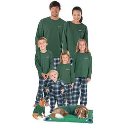 Classic Green Tartan Plaid Matching Family Pajamas