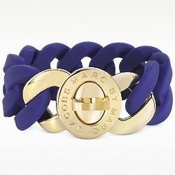 Katie Blue Rubber Chain Bracelet