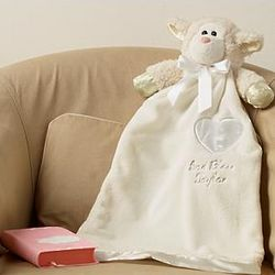 Personalized Soft and Sweet Baptism Lamb Blanket
