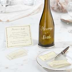 Message in a Bottle and Signing Slips for Wedding