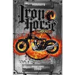 Iron Horse Cycles Custom Metal Sign