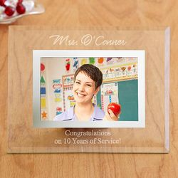 Personalized Glass Corporate Message Picture Frame